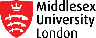 Middlesex University London Logo (Red & Black)